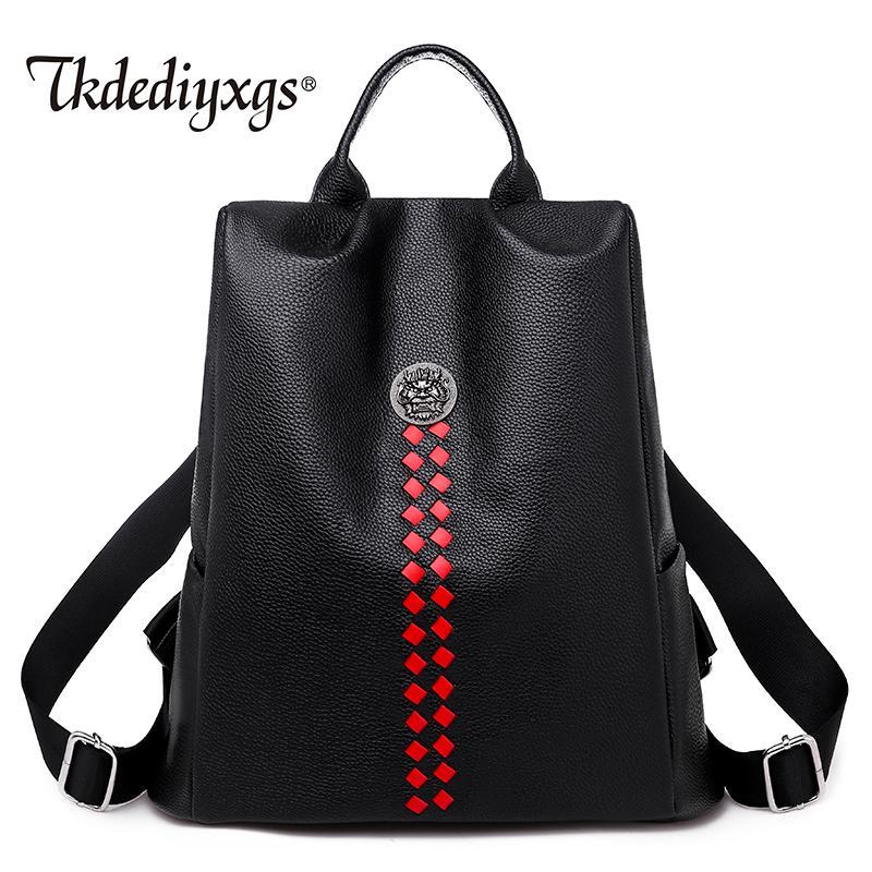 super macio nova tendência sensação senhoras confortáveis mochila de alta qualidade da moda senhoras mochila do estudante de viagem