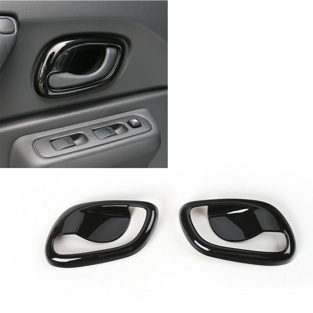 Pour Suzuki Jimny 2007-15 Intérieur Poignée de porte latérale Bowl ABS noir Trims couverture