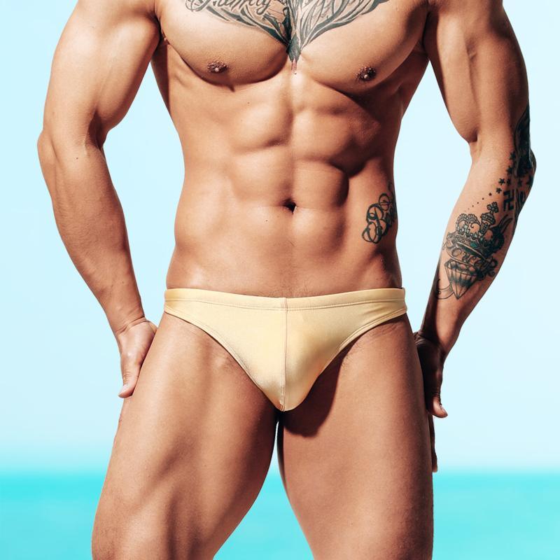 men bikini swimming shorts fashion sexy stress convex swimming trunk mens swim wear low waist briefs beachwear male swimwear spring clothes
