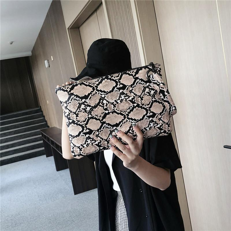 Bags Clutch Bag Leather Print Women Daily Wristlet Summer Purse PU Money Coin Pouch Casual Phone Beach Wallet Card Snake Handbag Mccsw