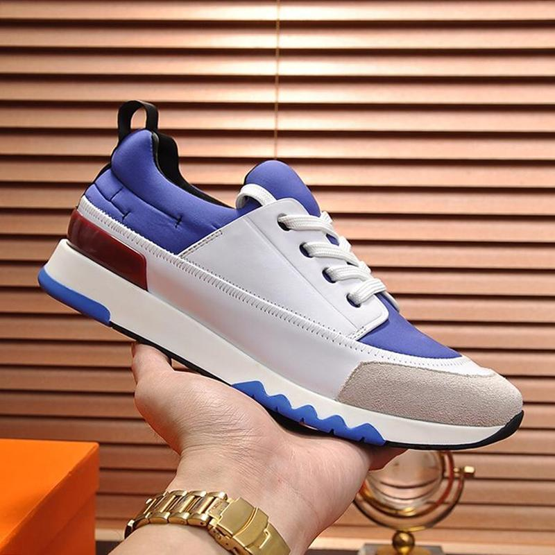 Luxe Hommes Chaussures en cuir grande taille Mode Stade Sneaker In And Canvas techniques Chaussures vachette pour Femmes Hommes Chaussures Retro Drop Ship