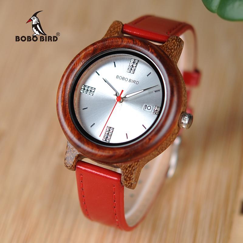 Bobo Bird Women Watches Relogio Feminino Rhinestone Ladies Quartz Watch With Date Display A Great Gift For Girlfriend W-ap29 Y19052201