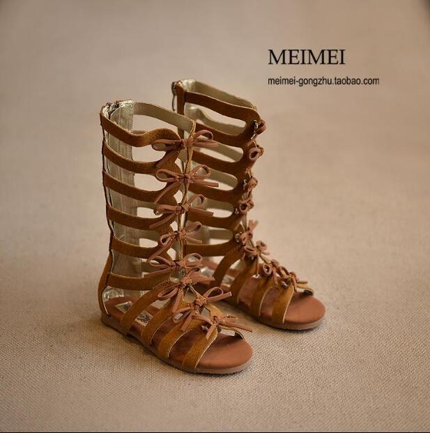 2019 Yeni Yüksek üst Yaz çizmeler moda Roman kızlar sandalet çocuklar gladyatör bebek sandalet kız yürümeye başlayan sandalet kaliteli ayakkabılar Y200619
