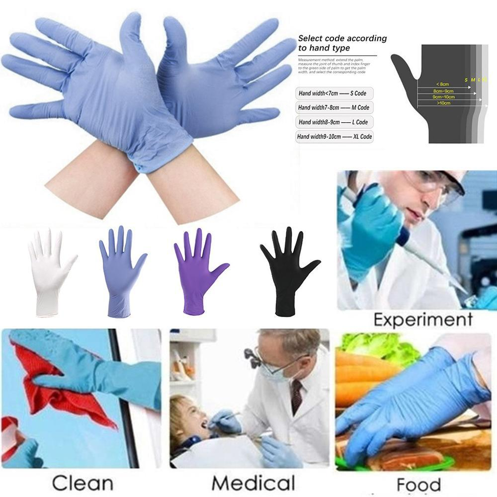 100 pcs Nitrile Rubber Comfortable Disposable Mechanic Nitrile Gloves Diamond texture Exam Gloves Resistant to punctures