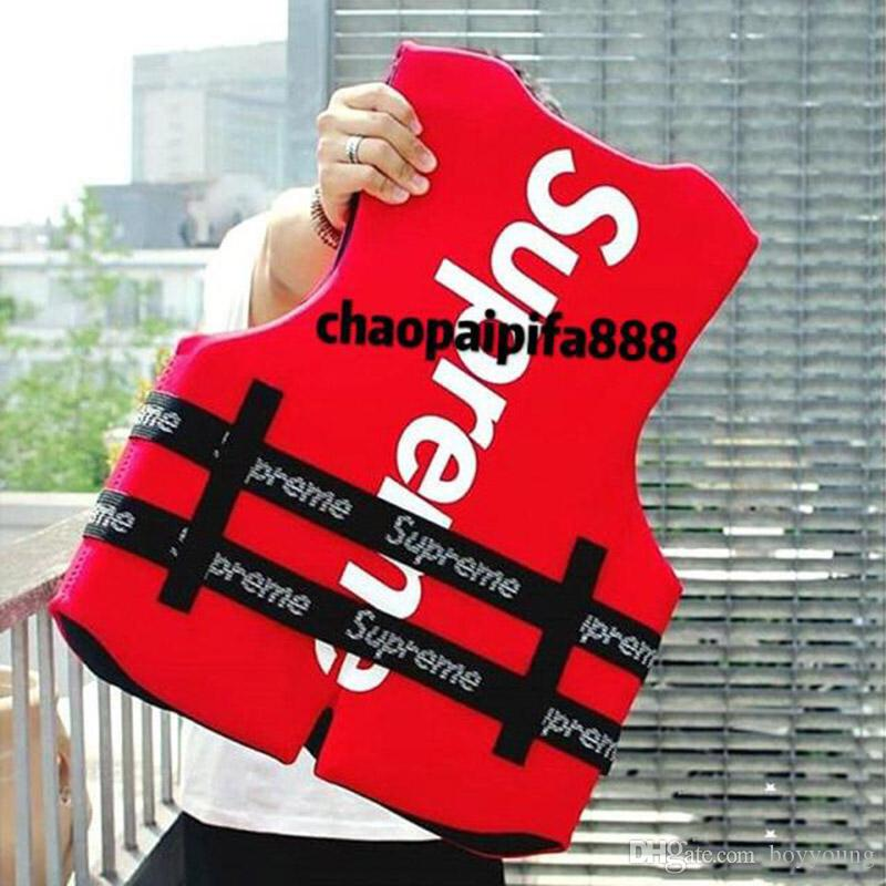 Clone Red Life Vest And Buoy Adult Buoyancy Life Jacket Protection Safety Waistcoat Summer For Swimming Fishing Rafting Surfing