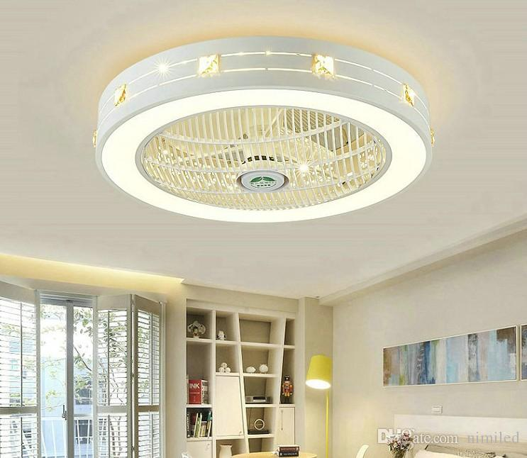2021 Modern Led Ceiling Fans With Lights For Living Room 220v Cooling Ventilador Round Ceiling Fan Lamp With Remote Control Llfa From Nimiled 298 49 Dhgate Com
