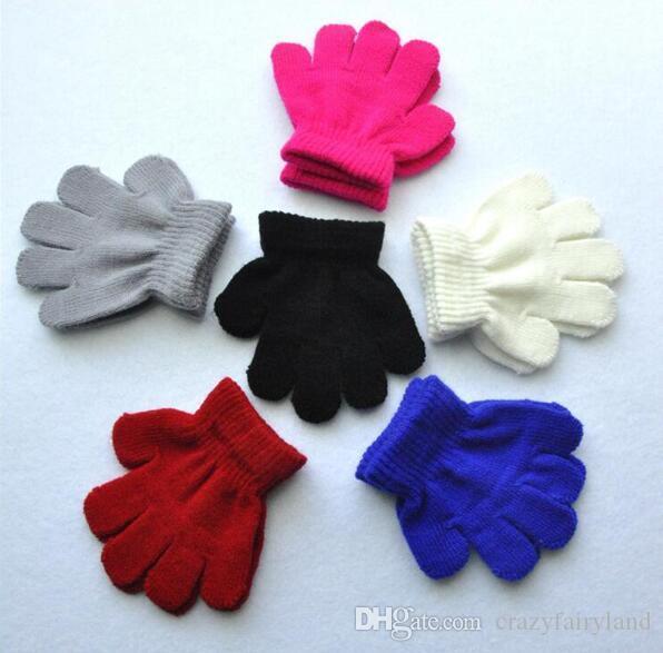 Winter Knit Glove Finger Baby Mitten Boys Girls Gloves for Newborns Baby Toddler Warm Gloves Childre Kids Elastic Winter Gloves Gifts