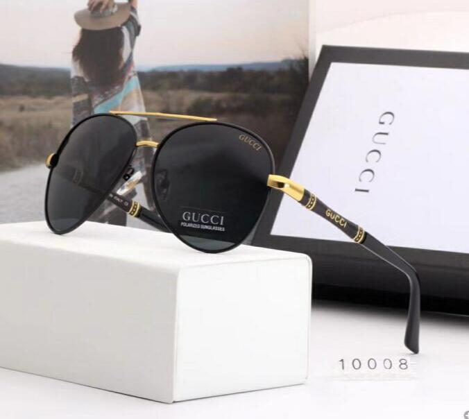 2020 Luxury Fashion Designers Large Metal Sun Óculos para lentes Homens Mulheres vidro de protecção UV Óculos de sol 006