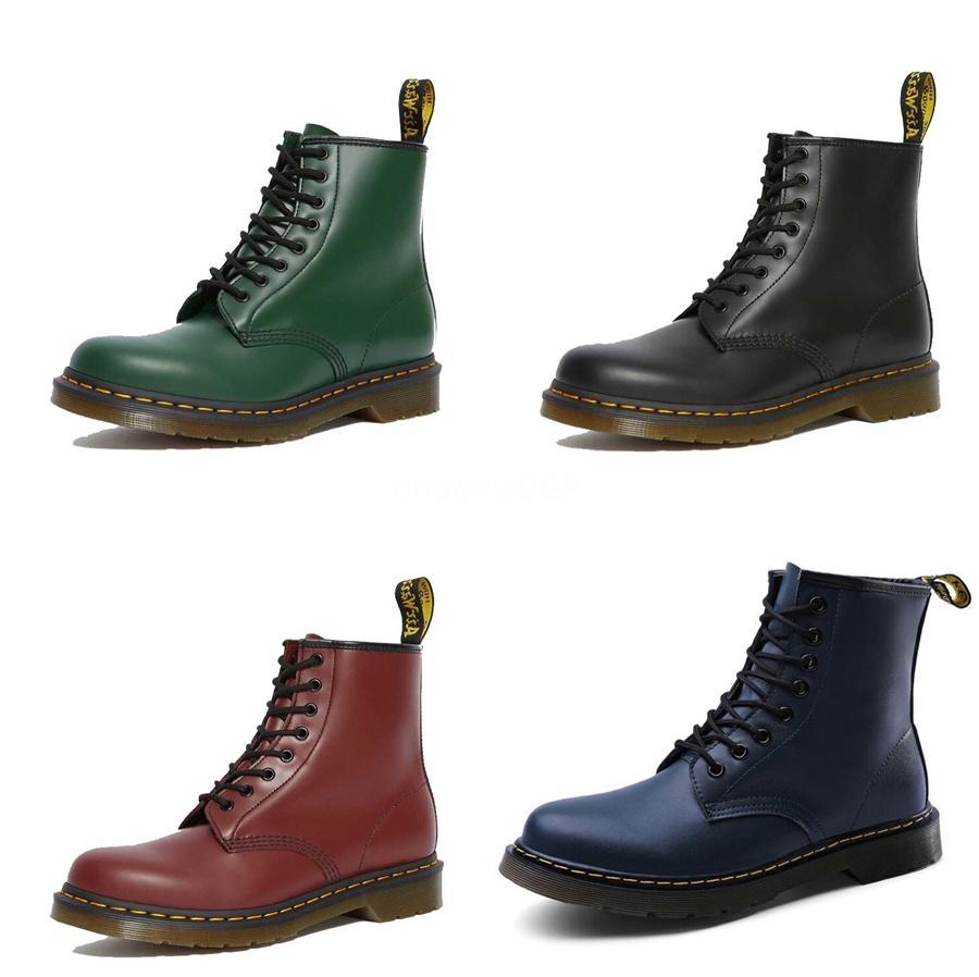 2020 Europa und Amerika echtes Leder Art und Weise Martin Rock Boots Neue Liste High Top Personality Cowskin MenS Schuhe # 397