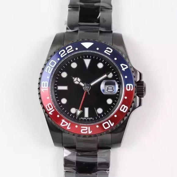 cerámica calendario esfera de color negro de lujo de los hombres de zafiro acero inoxidable completo reloj mecánico automático, diseñador watches2020 gastos de envío gratis wa