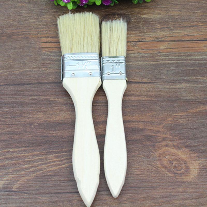 2pcs Basting Brushes Wood Handle Roasting Baking Brush Barbecue Pastry Bakeware