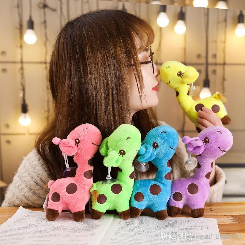 Cute Color Deer Doll 18cm 25cm Giraffe Plush Toy Soft PP Cotton Fawn Dolls Stuffed Animals Kids toys Christmas Birthday Gift DHL