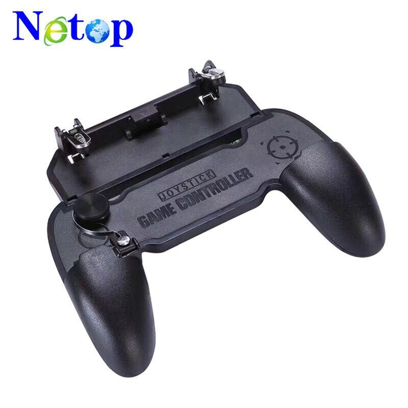 Netop W11 + jogo Gamepad móvel lidar com caso de escudo do telefone móvel gamepad titular joystick gatilho de fogo tudo em um para pubg