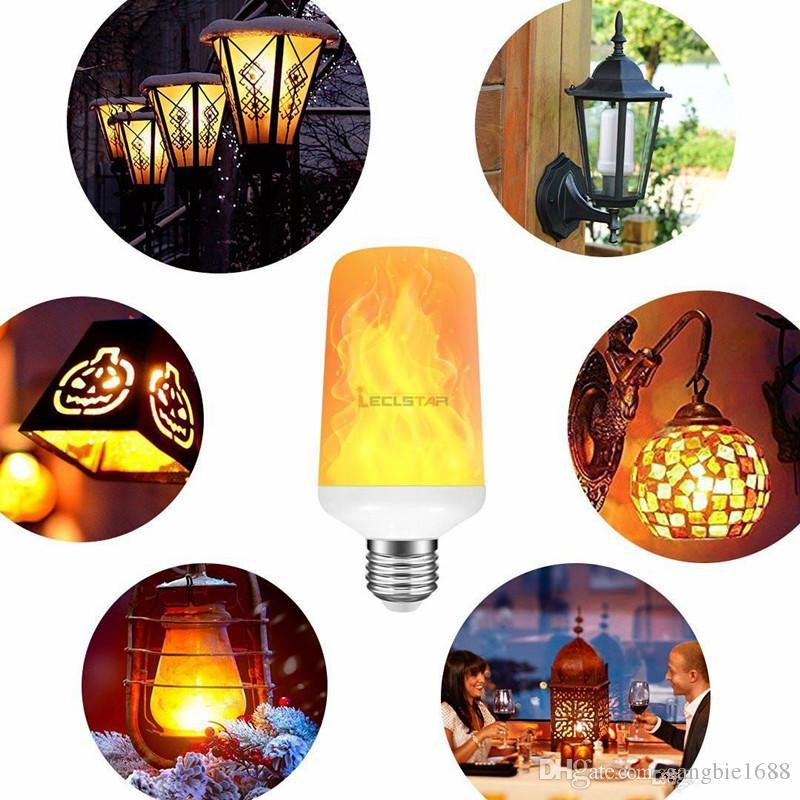 الإبداعية 3 طرق + الجاذبية الاستشعار لهب أضواء e27 led لهب تأثير النار ضوء لمبة 7 واط الإيماض مضاهاة ديكور مصباح زينة