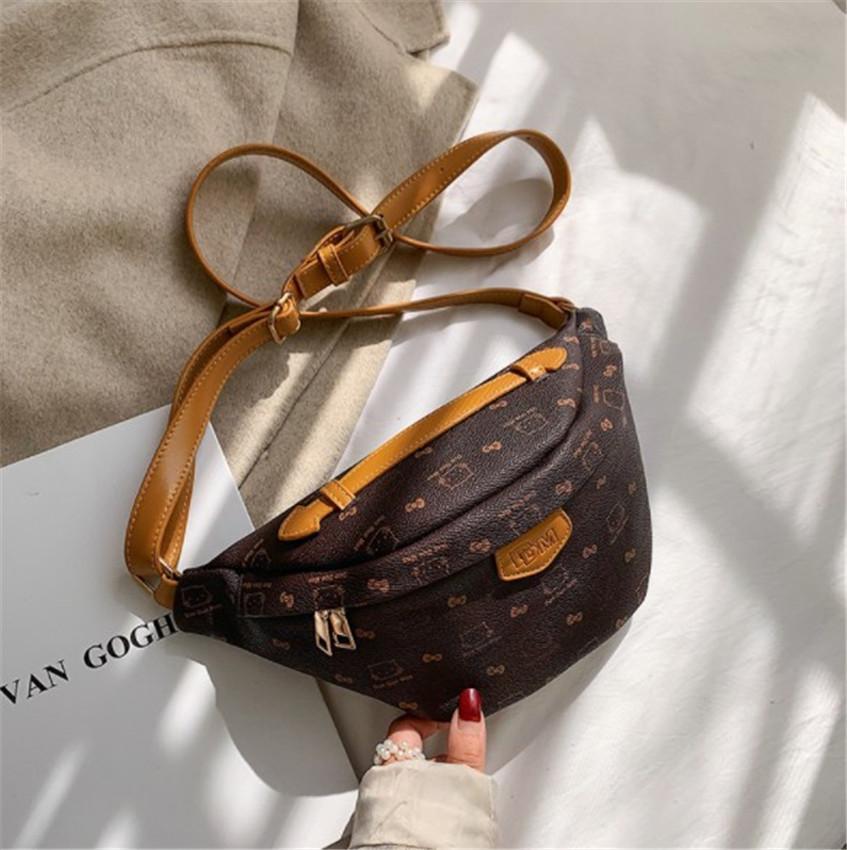Tasarımcı Bel Çantası Çatallı Göğüs Çanta Retro Tek Omuz Çatallı Bel Çantaları Moda PH-CFY2001143