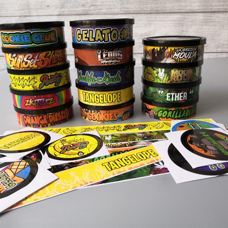 20 Lezzet Pressitin Cons Moonrock ve Pressitin 73.3 * 24mm Cali Pressitin Ton balığı Teneke Şeker Herbtin Temizle Soyma Kapak Siyah Kapak Koku Kanıtı