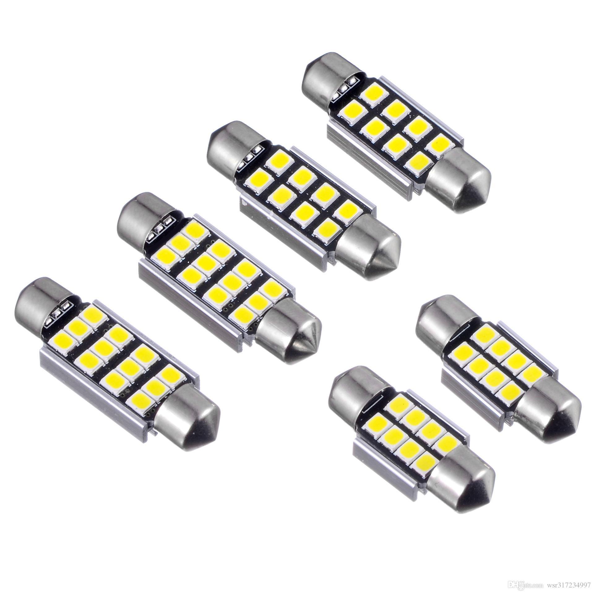 YENI LED İç Harita Işık Festoon 36mm 31mm 39mm 41mm 2835 Hata Ücretsiz 8SMD LED Okuma Işık Araba İç Dome lamba Ampüller