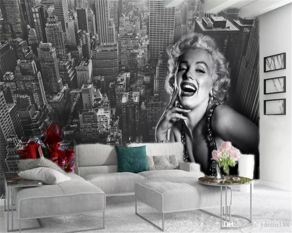 Custom Photo 3d Wallpaper Beautiful Marilyn Monroe Avatar City