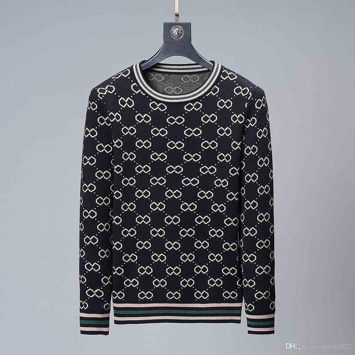 Ricamo maglione vestiti di inverno design con cappuccio manica lunga felpata Lettering Pullover Uomo Maglione 2020 uomini all'ingrosso