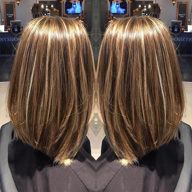 H Un colore Mix diritte del Virgin del brasiliano dei capelli Fasci di Remy dei capelli peruviani 100% dei capelli umani del tessuto di colore 1b / 27 8 -28 pollici