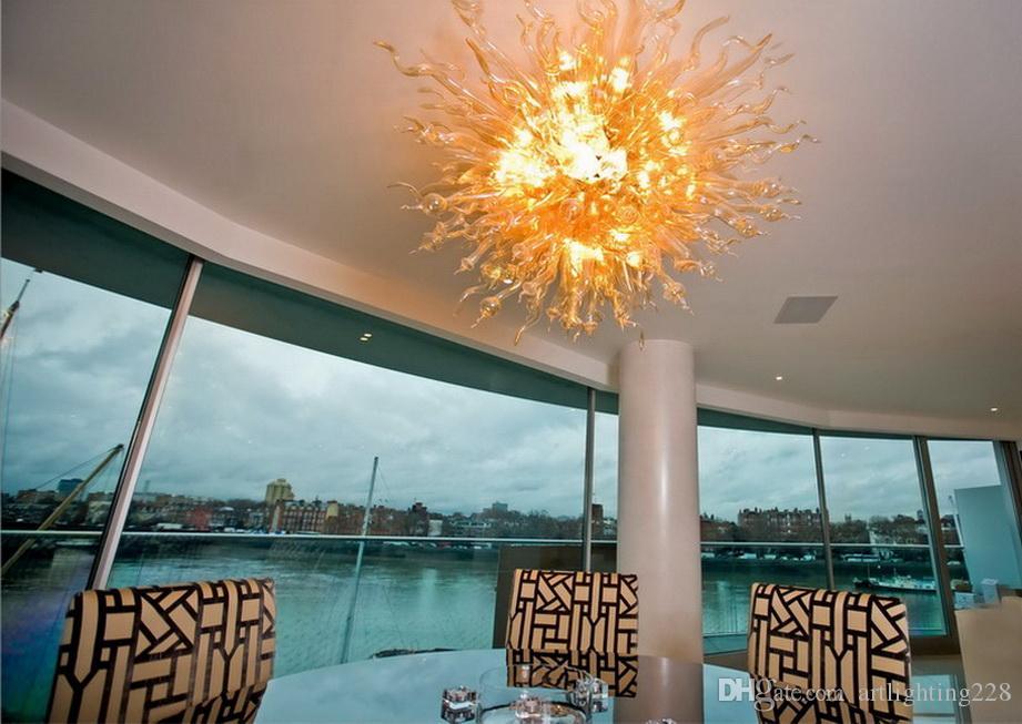Contemporánea Chihuly vidrio soplado Araña luz única Dsigned estilo Art araña de cristal para la decoración del dormitorio Europea