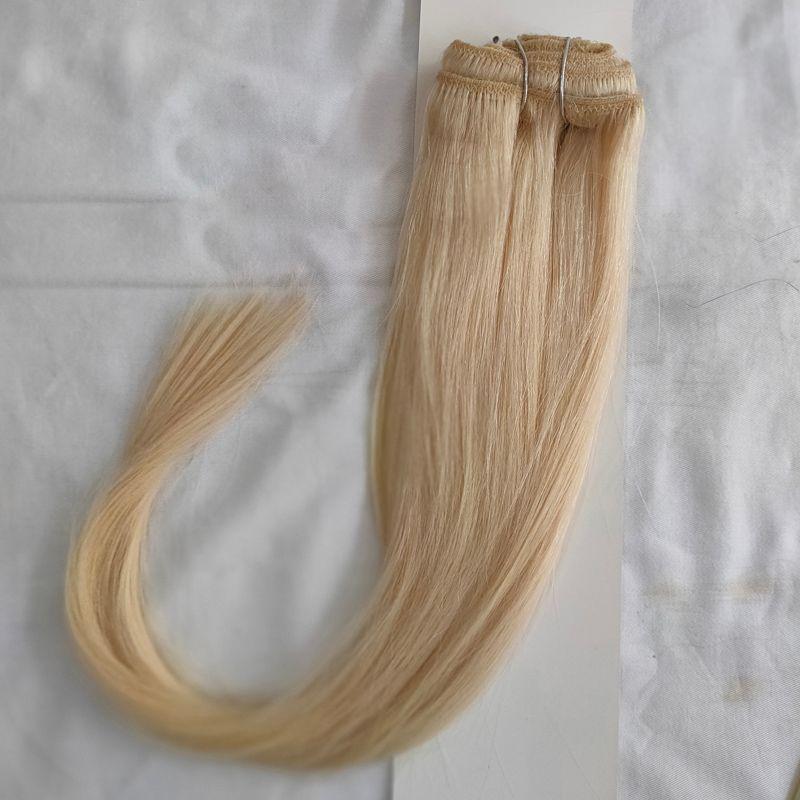 4 Bundles indische Menschenhaar-Webart-Bundles 100g / pc Glatt Braun 1B 613 Farbe 10 # Short Bob Stil Nähen in Haarverlängerungen