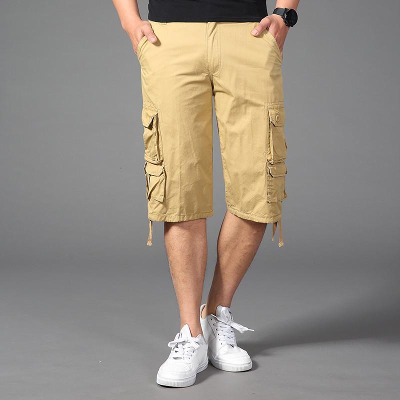 Authentics Erkekler kabartılmış Kargo Kısa Flex ve Yıkama Nefes Casual Klasik Fit İpli Yaz Spor Giyim