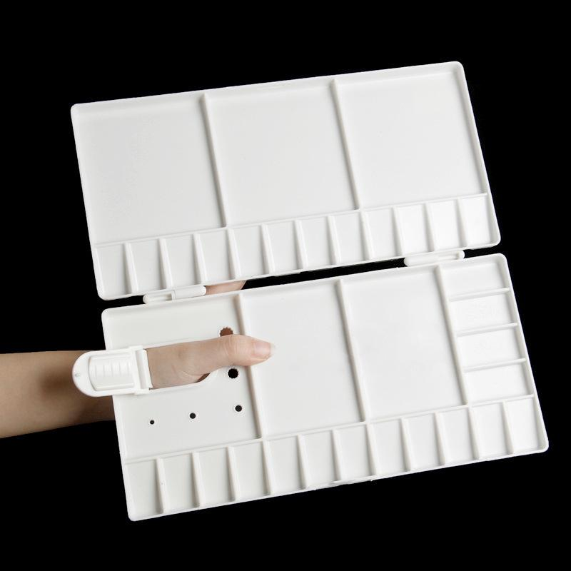 Art Drawing Plastic Palette Supply Artist Watercolor Tools Paint Tray 1 pcs