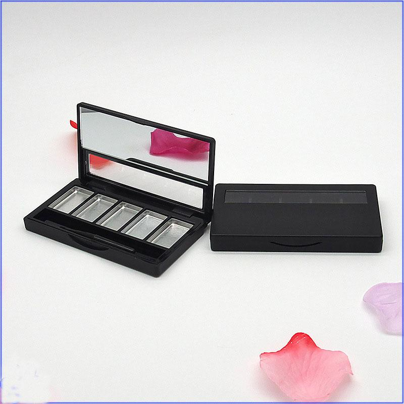 Eye shadow Palette Empty Lipstick Container 5 Grids DIY Eyeshadow Packing Compact with Aluminum Pan lip brush Makeup Container