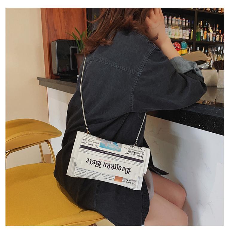 2020 Frauen Messenger Bag Fashion Kette Umhängetasche Persönlichkeit Small Square-Zeitung Nachrichten Styling Beutel Wholesale Bolso Mujer