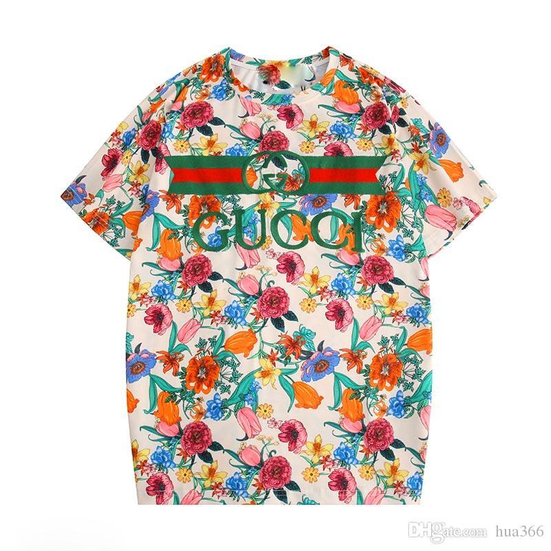 2020 progettista delle donne T-shirt donna stampato la breve SleeveTee per camice casuali magliette delle donne degli uomini Estate