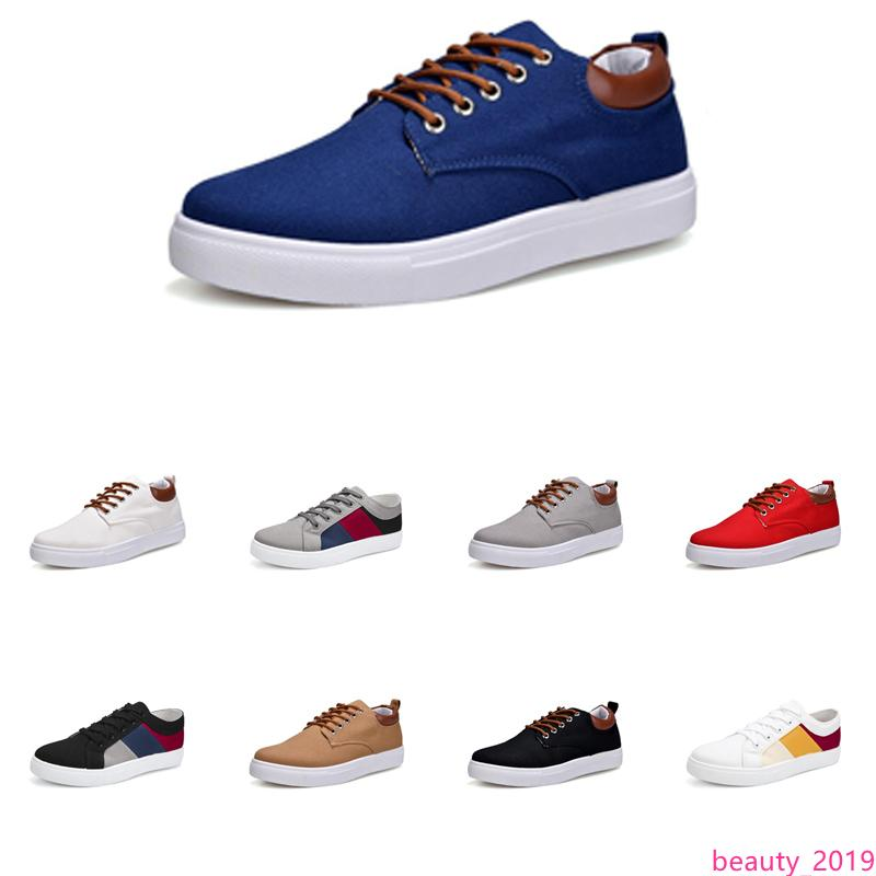 Hommes Chaussures sans marque toile spotrs Sneakers Casual Blanc Noir Rouge Gris Kaki Bleu Mode New Style Chaussures 215
