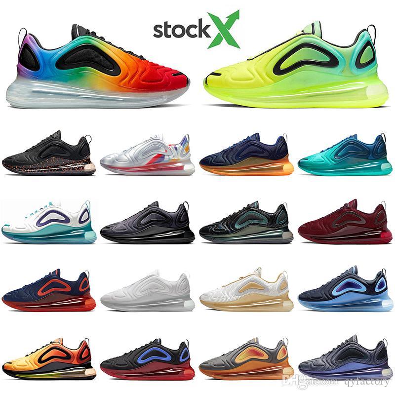 Nike air max 720 çorap klasik erkekler kadınlar koşu ayakkabıları ile Yüksek Kalite Hayalet Sunrise Masmavi Volt açık Atletik tasarımcı spor eğitmenleri sneaker