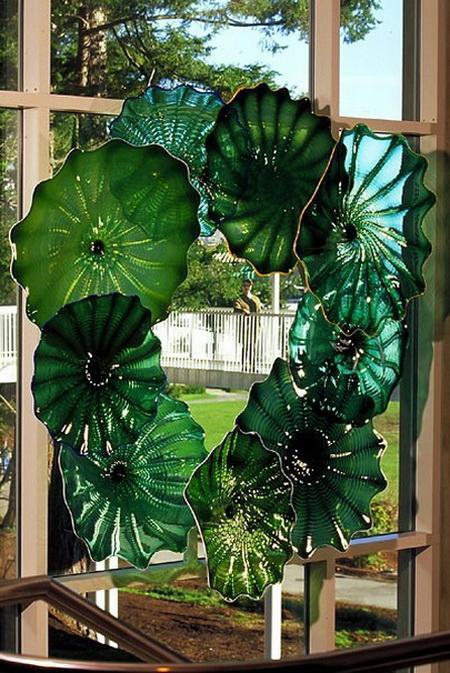 Роскошная художественная галерея разноцветные настенный светильник выдувное стекло цветок настенная тарелка Chihully пластины для продажи