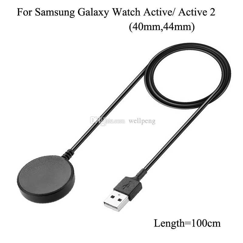 Для Samsung Galaxy Watch3 Active 2 40 мм 44 мм Беспроводное магнитное зарядное устройство R500 R820 R825 R830 Craadle R82 R82 R830 Портативный док