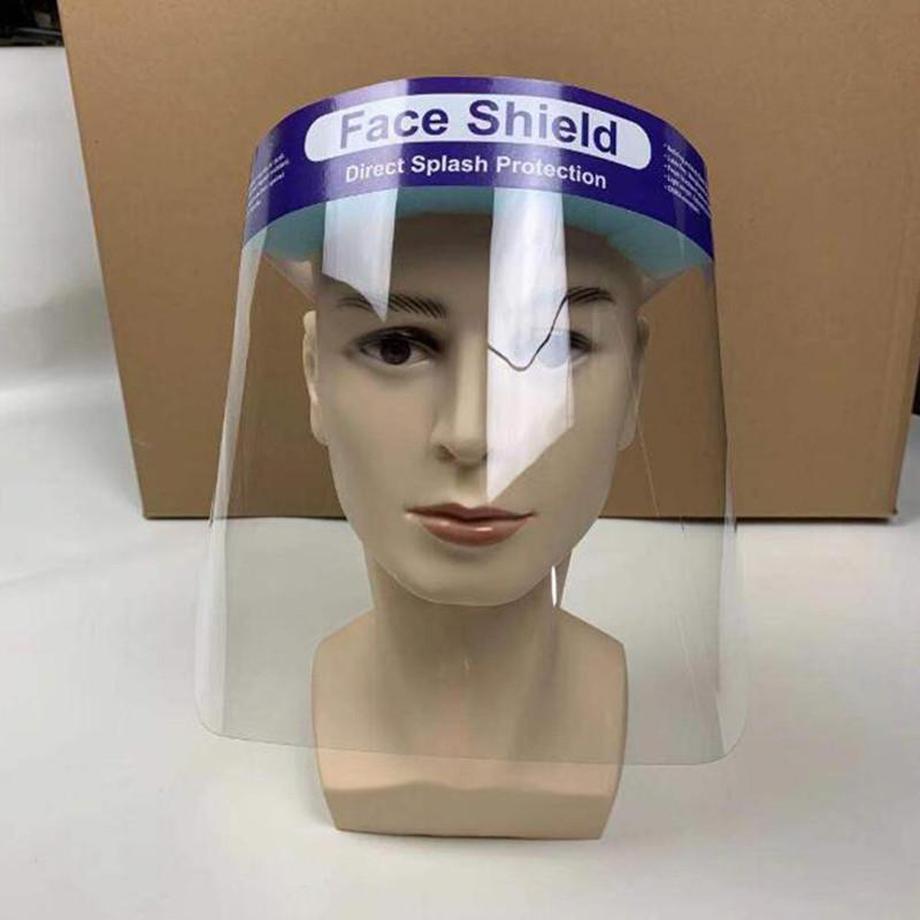 США Stock! Оптовая Корабль безопасности Faceshield Прозрачная анфас Защитная крышка маска пленка Инструмент противотуманным Премиум ПЭТ Материал Face Shield