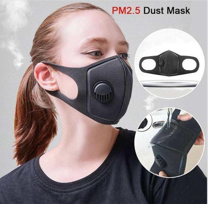 Enviar 24 horas Designer Máscara Facial com a respiração Válvulas lavável reutilizáveis de pano não Crianças de Máscaras máscara adulto algodão cara preta Protective
