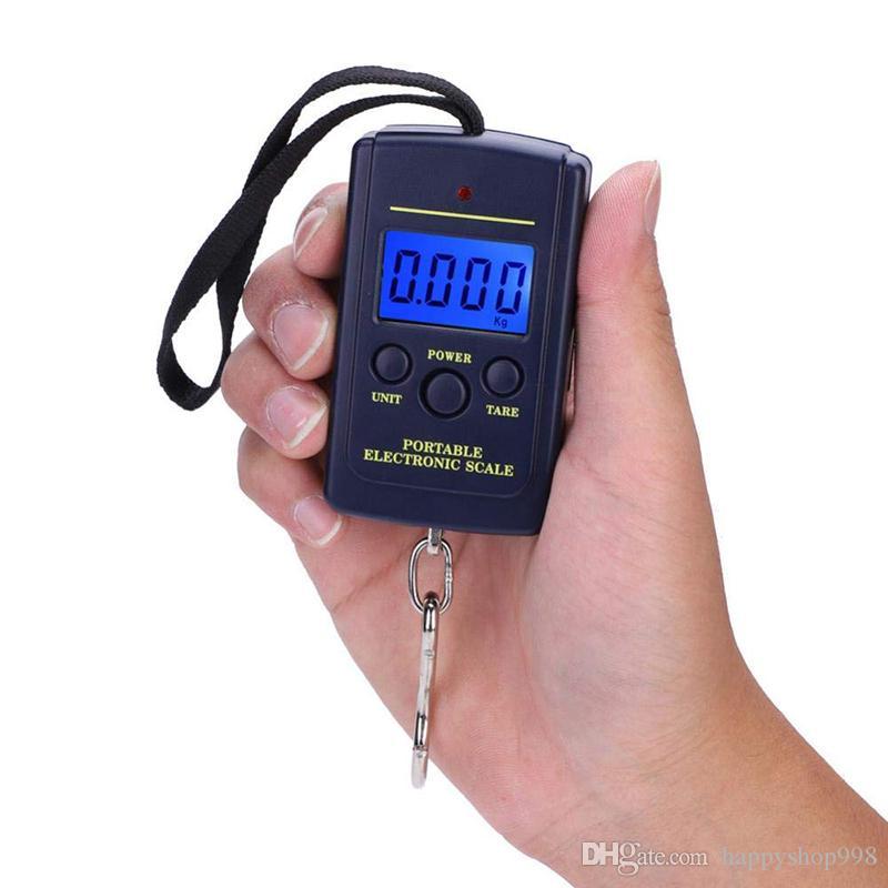 DHL free shipping 10g- 40kg Digital Lage Handy Scales 88Lb LCD Display hanging fishing digital mini pocket weighting scale