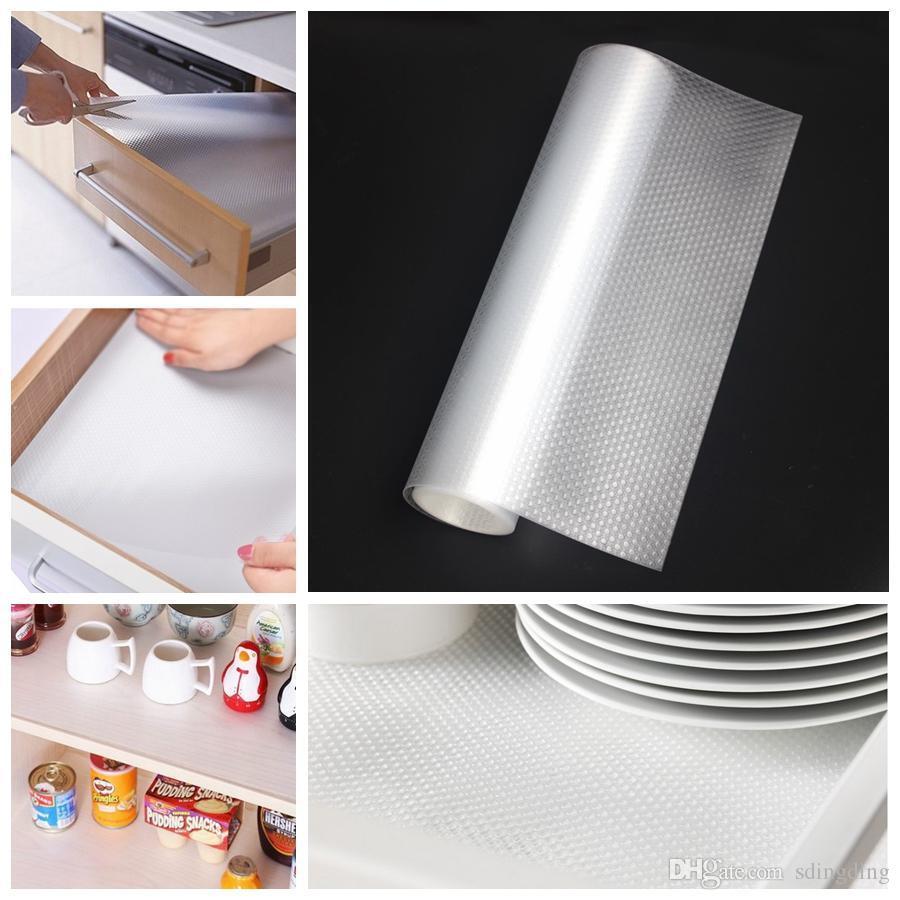 45 * 120cm engrossar gaveta transparente almofada papel cozinha isolamento à prova d 'água à prova de óleo mesa de mesa à prova de umidade casa dv0555 t03
