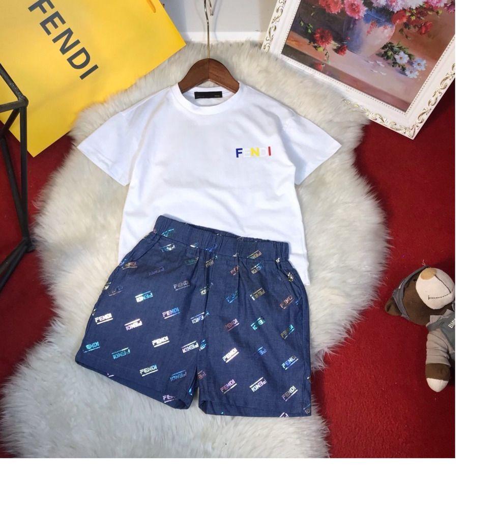 calções coloridos Kids Clothing Meninos Two Piece Verão de movimento de alta qualidade atender 031410