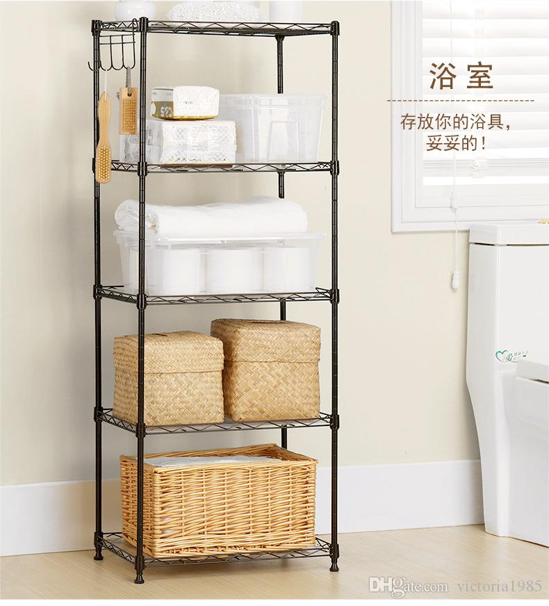Black Basics 5-Shelf Shelving Unit