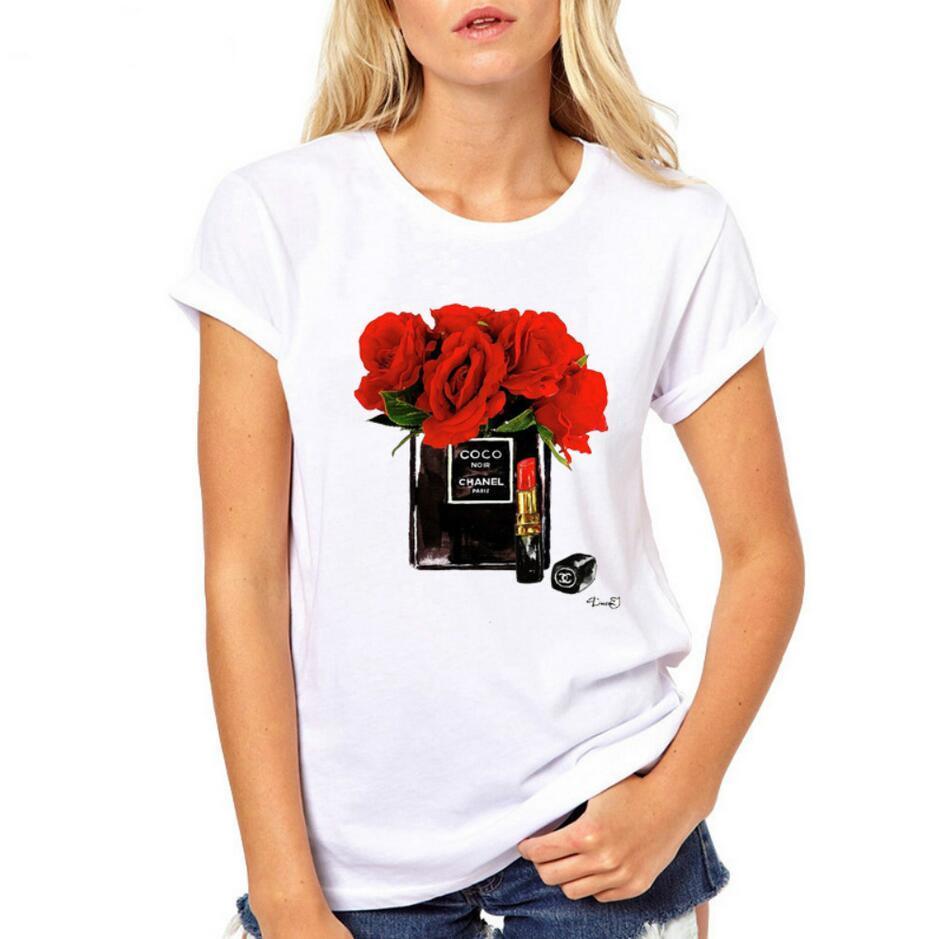 Sommer Frauen Sportbekleidung Tops kurzärmlig hochhackigen Druck T-Shirts beiläufige Hemden T-Shirt Größe S-3XL freies Verschiffen