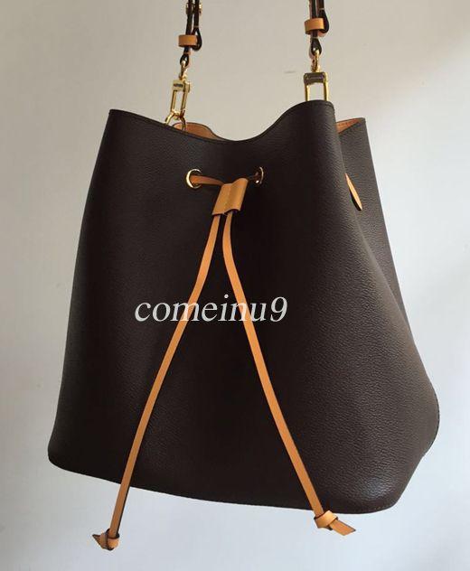 2019 moda mujer bolso del cubo de alta calidad de cuero genuino bolso de hombro diseño clásico Bolsos Crossbody Señora Bolsos más colores