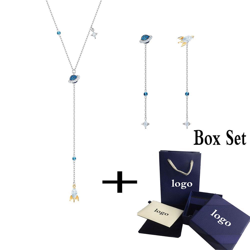 2019 New Fashion DE CE MONDE L'ESPACE Set frais romantique Rocket Roaming et Cadeaux de bijoux de décoration Planetary femmes