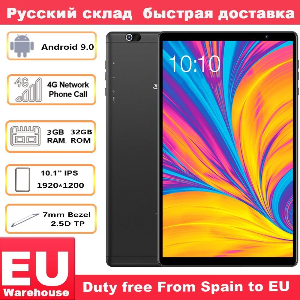 Teclast P10HD 4G Phone Call Compresse Octa Nucleo 10.1 pollici IPS 3GB di RAM 32GB SC9863A ROM GPS Android 9.0 6000mAh tablet PC 1920 * 1200