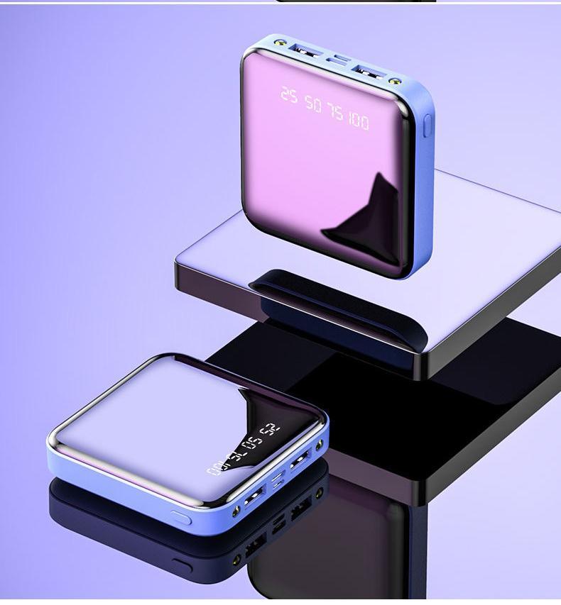 Mini-Energien-Bank 30000mAh für iPhone X Xiaomi Mi Powerbank Pover-Bank-Aufladeeinheit Doppel-USB-Anschlüsse externe Batterie Poverbank Tragbarer