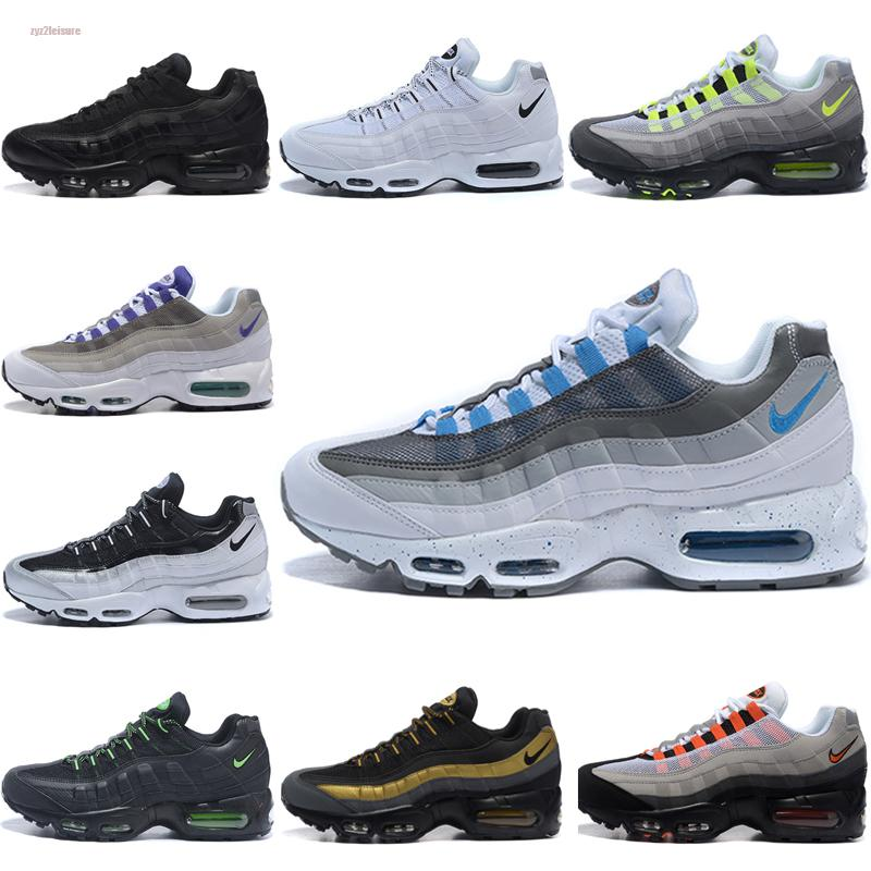 Nike air max 95 2020 nuovi pattini correnti degli uomini Triple Bianco Black Grape Solar Red Neon Trainer arriva al massimo Sport all'aria aperta Jogging dimensioni Athletic 40-45