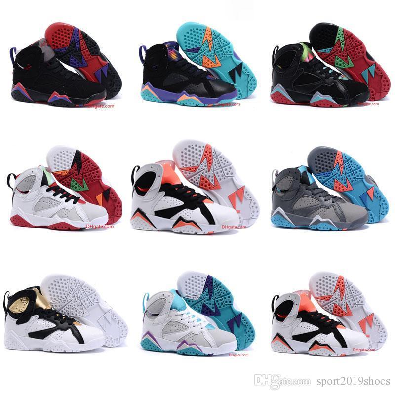 anillo caliente físicamente  Compre Jordan Kid 7s 2019 7S Niños Diseñador De Baloncesto ...