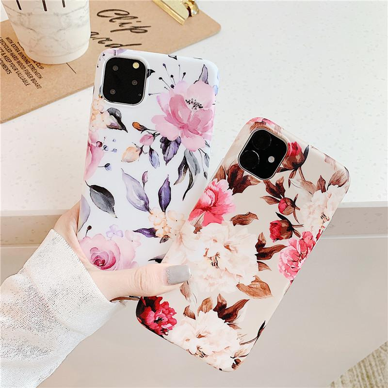 Tipo de encapsulado de la flor por iPhone11 / 11Pro / X / X XR XSMax 7P / 8P 7/8 con Seguidor Impreso caja del teléfono