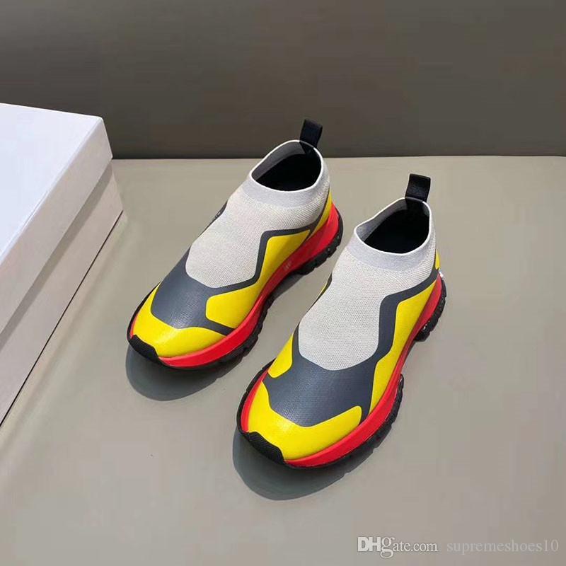 2020 zapatos del calcetín del zapato casual Speed Trainer de alta calidad de las zapatillas de deporte Speed Trainer calcetín Carrera Corredores zapatos negros hombres y mujeres blancos Y4E zapato